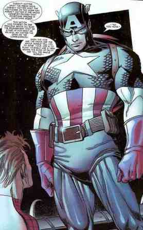 Captain America speaks on patriotism, from the pages of Amazing Spiderman #537