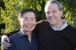 George Takei with his husband, Brad Altman