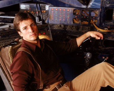 Nathan Fillion as Captain Malcolm Reynolds.