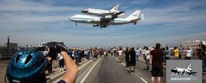 Shuttle on final approach toward LAX.  Source:  California Science Center
