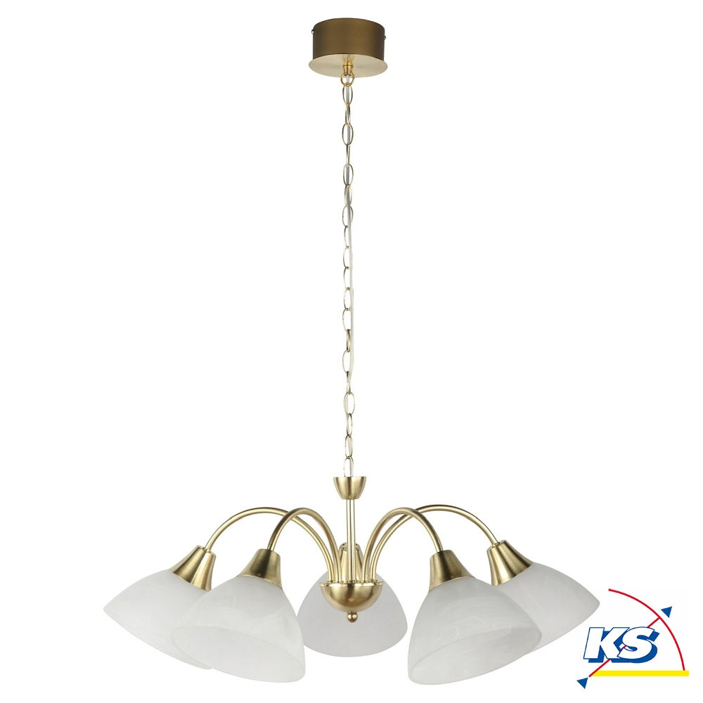 Led Pendelleuchte Barock 5 Flamming Ø 62cm H 150cm 22 5w 3000k Messing Gebürstet