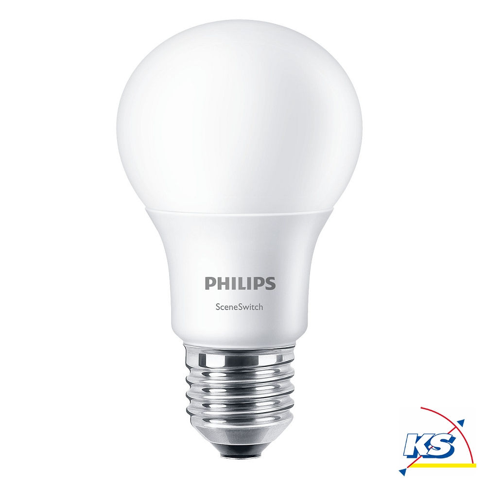 Led Lampen Dimmbar Philips Led Lampe Scene Switch A60 E27 Dimmbar Ohne Dimmer In 3 Stufen