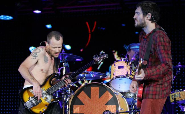 Red Hot Chili Peppers Flea And Former Guitarist John