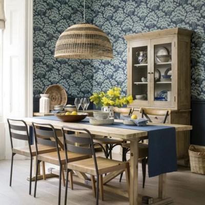 Dining room wallpaper ideas – Dining room with wallpaper