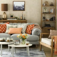 Great schemes with mix-and-match living room chairs ...