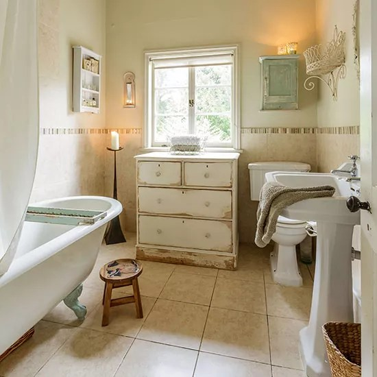 Shabby chic bathroom designs and inspiration Ideal Home - shabby chic bathroom ideas