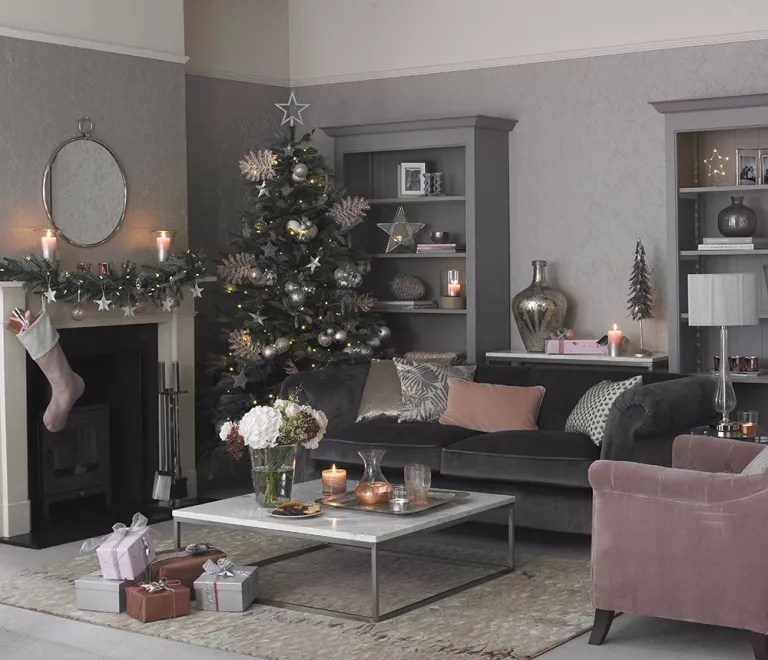 Black And White Wallpaper Living Room Christmas Colour Schemes To Brighten Up Your Home