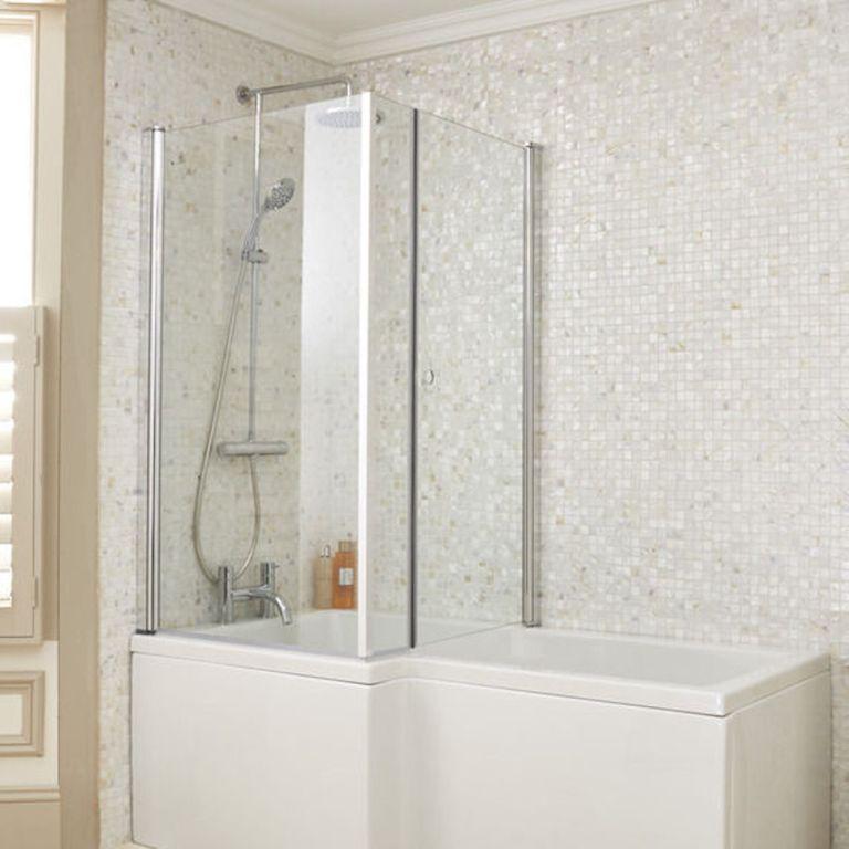 100 Folding Bath Shower Screens 800mm Luxury Pivot