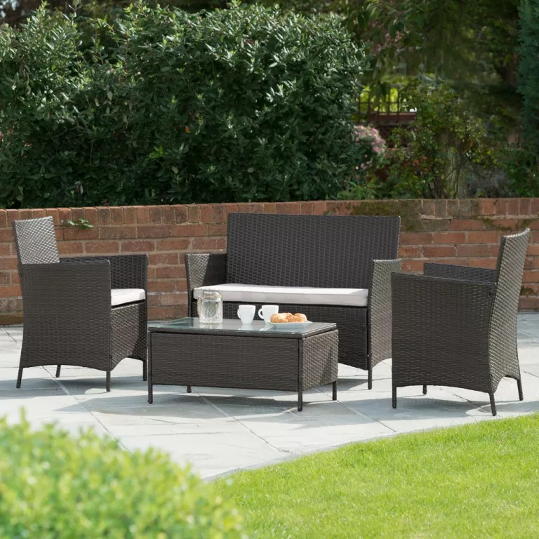 Owen 5 Piece Rattan Sofa Set With Cushions Hot Deals B M Garden Furniture Now On Offer At Even Lower Prices