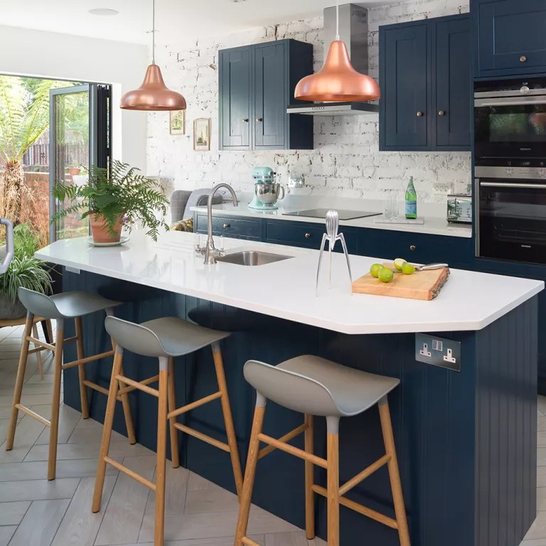 Kitchen Design Chrome Extension Navy Kitchen Ideas Navy Blue Kitchens That Look Cool And Stylish