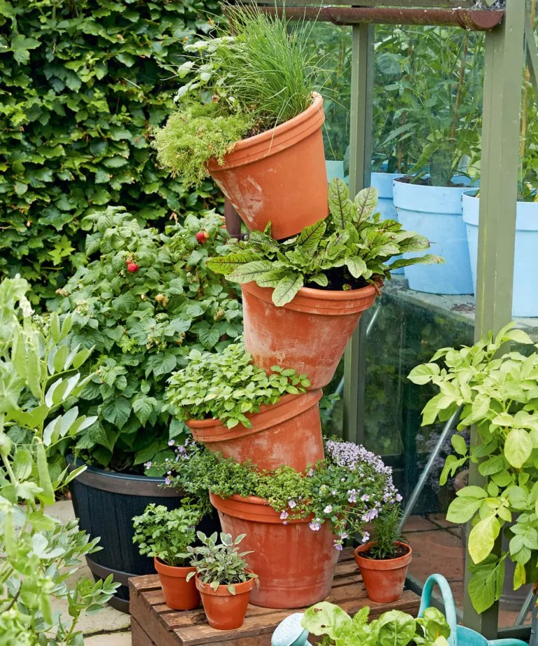Planter For Herbs How To Build A Herb Tower Herb Planter Herb Planter Pot