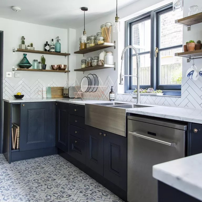 Navy Kitchen Ideas To Add An Element Of Rich Colour And Sophistication