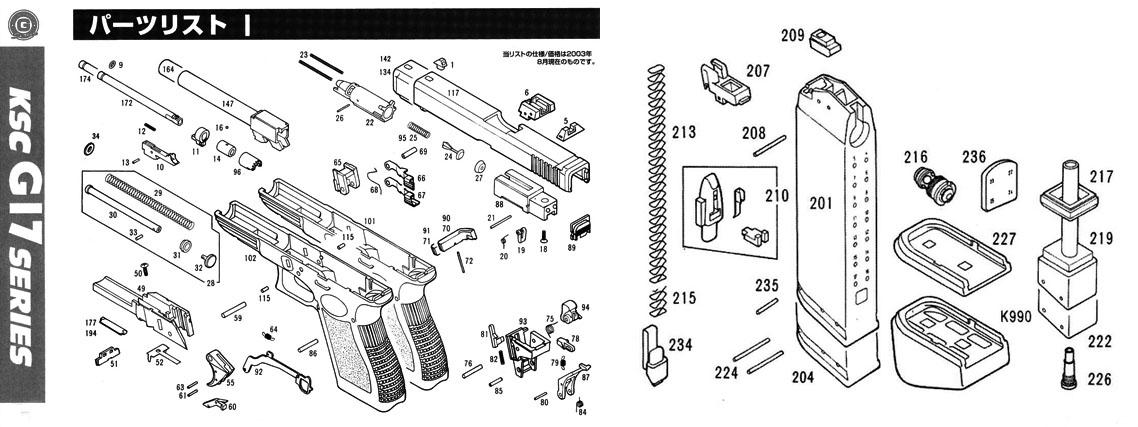 orginal ksc glock 18c parts for sale