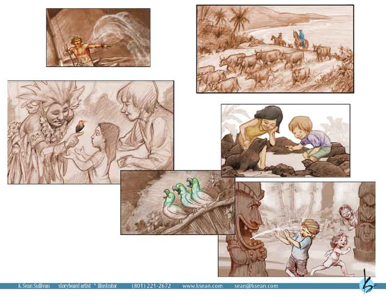 K Sean Sullivan Art Blog » Storyboards - photography storyboard sample
