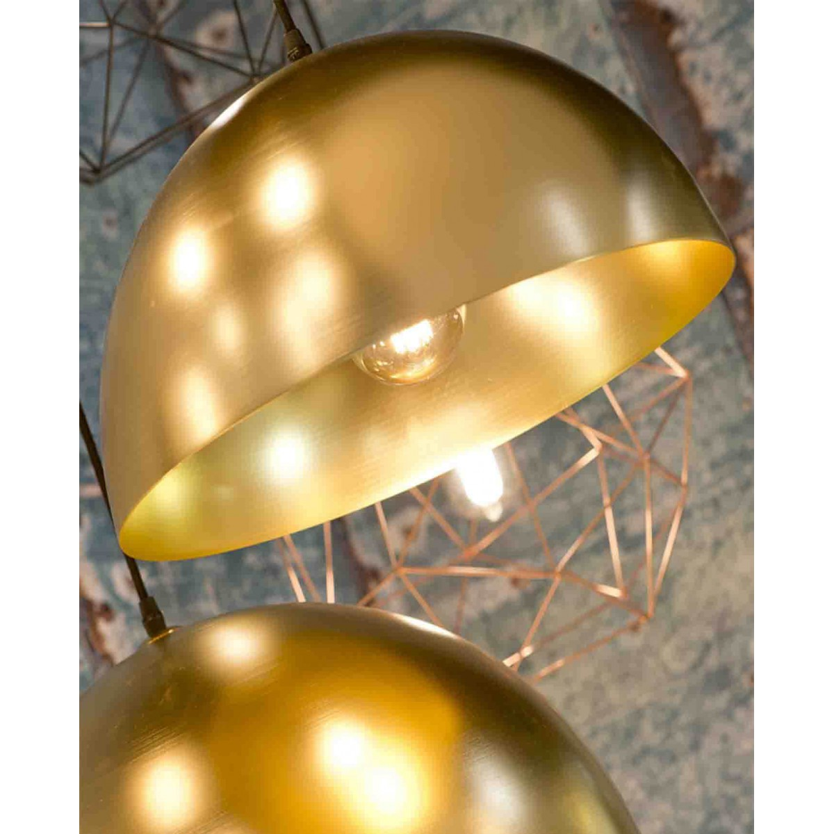 Luminaires Cannes Suspension Dorée Forme Coupole Its About Romy