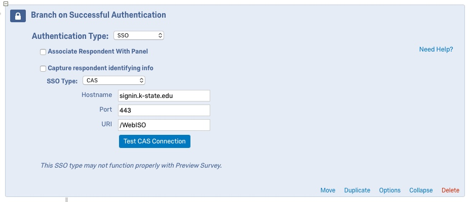 Knowledge - Require K-State eID to access Qualtrics survey