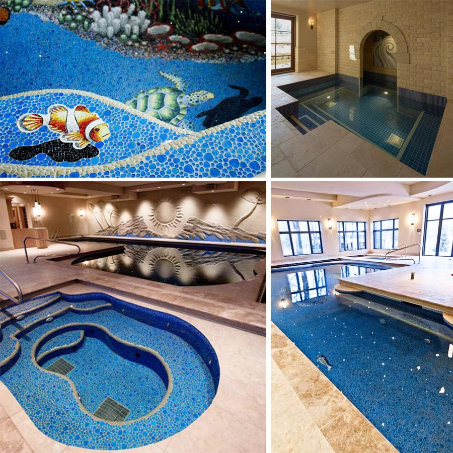Glas Pool Custom Swimming Pool Tiles Marmer Teëls Pool Tiles Glas Blok