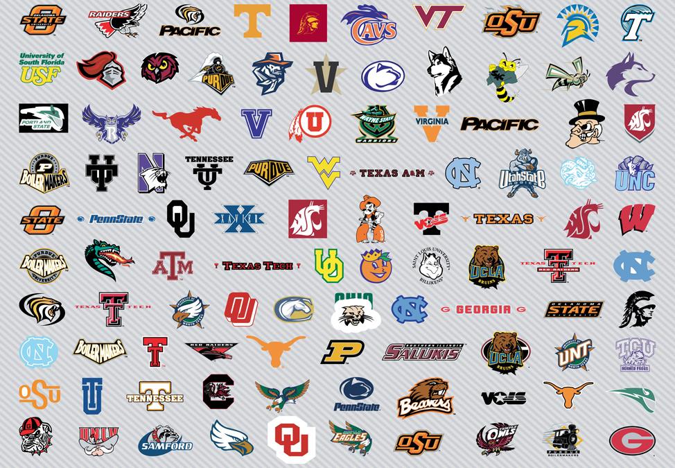 Ncaa College Logos College Basketball Team Logos