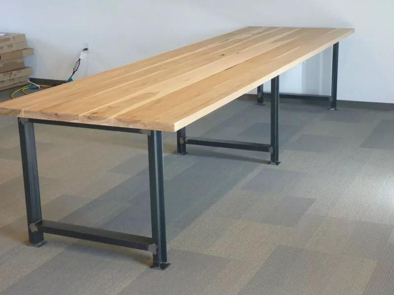Rustic Table Legs Square Metal Industrial Frames Custom