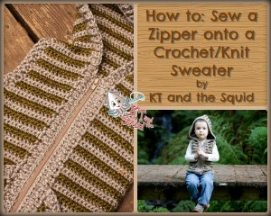 How to Sew a seperating zipper onto a crochet/knit sweater free tutorial