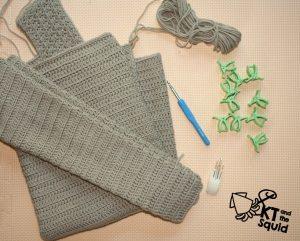 Kram cardi Crochet Along KT and the Squid