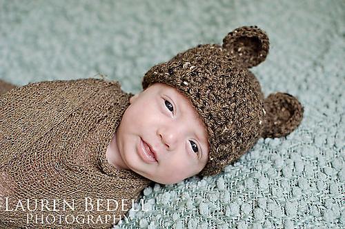 Free Crochet Bear Ear Hat Pattern : The Bear Hat: FREE Crochet Pattern KT and the Squid KT ...