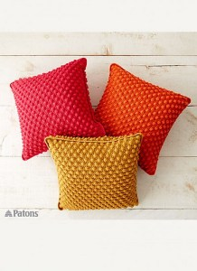 © Patons Bobble-licious Pillows by Patons
