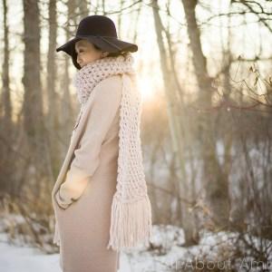 © Stephanie Jessica Lau Moss Fringe Scarf by Stephanie Jessica Lau (crochet, FREE)