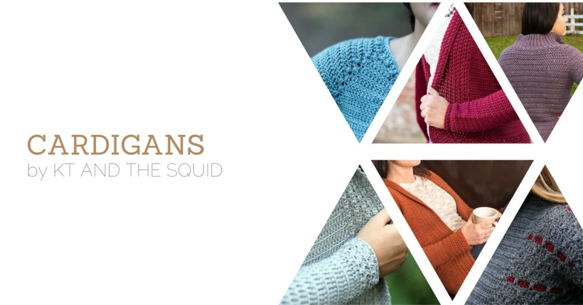 6 crochet cardigan patterns ebook by kt and the squid