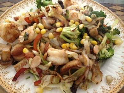 Lunch yesterday: Prawn Stir Fry