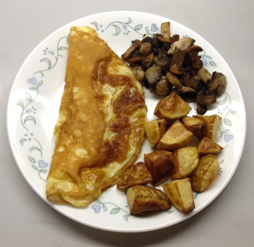 Omelet with potatoes & mushrooms