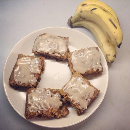 Peanut Butter & Banana Squares