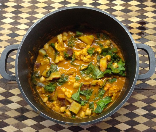 Sweet Potato & Chickpea Curry Pot