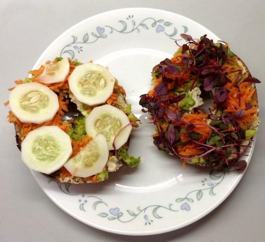Ultimate Veggie Sandwich Open-Faced