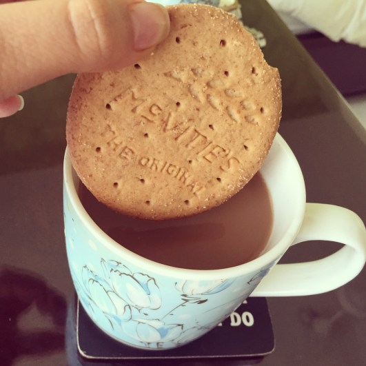 Digestives dipped in chai