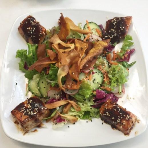 Cachao - Asian Salad with Teriyaki Salmon