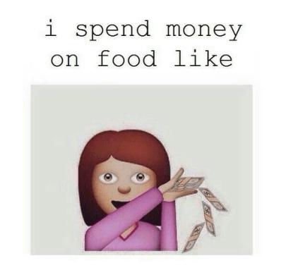 I spend money on food