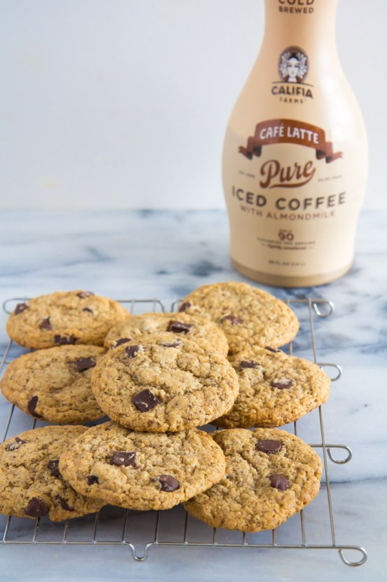 CHOCOLATE CHIP LATTE COOKIES STUFFED WITH ALMOND PASTE