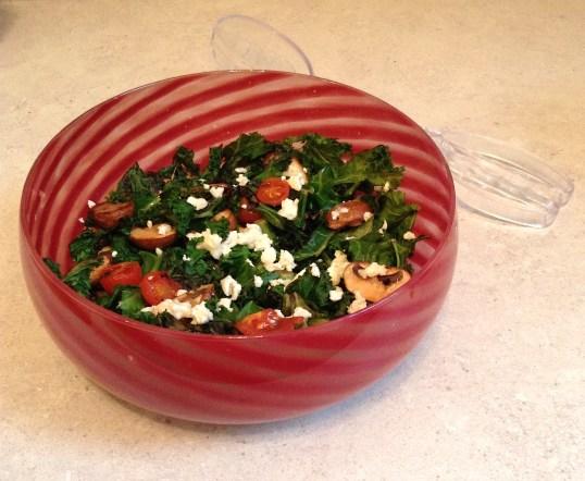Warm Kale & Feta Salad (1)