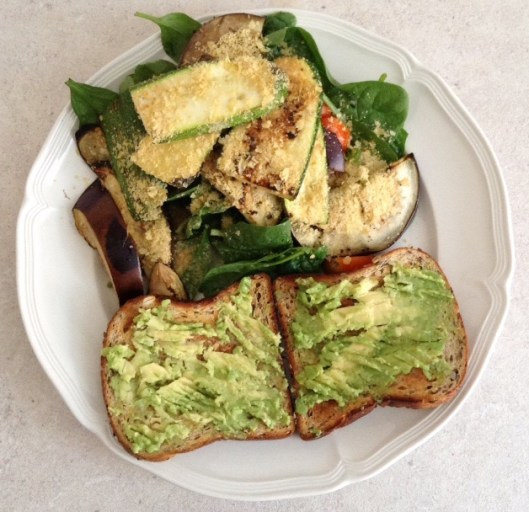 Avo Toast + Grilled Veggies