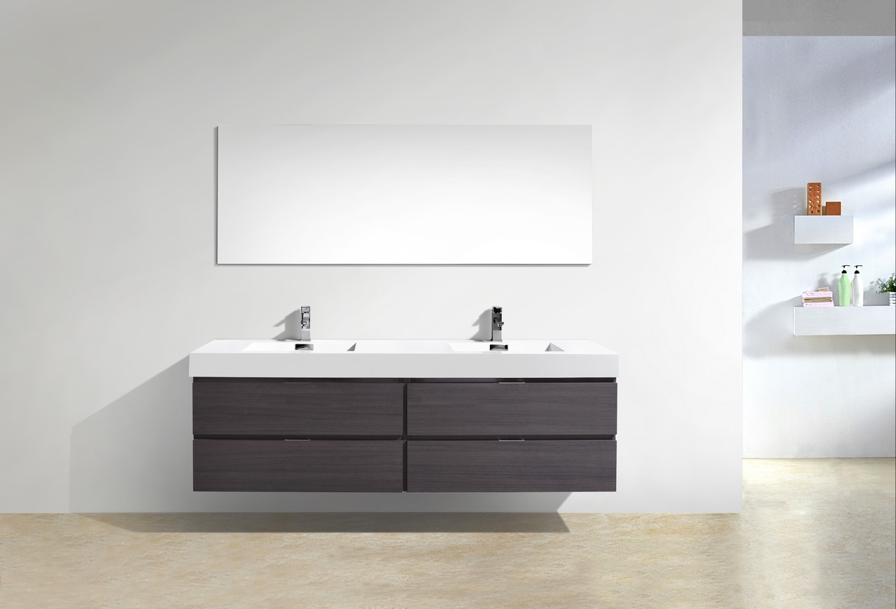 Wall Mount Double Vanity Bliss 72
