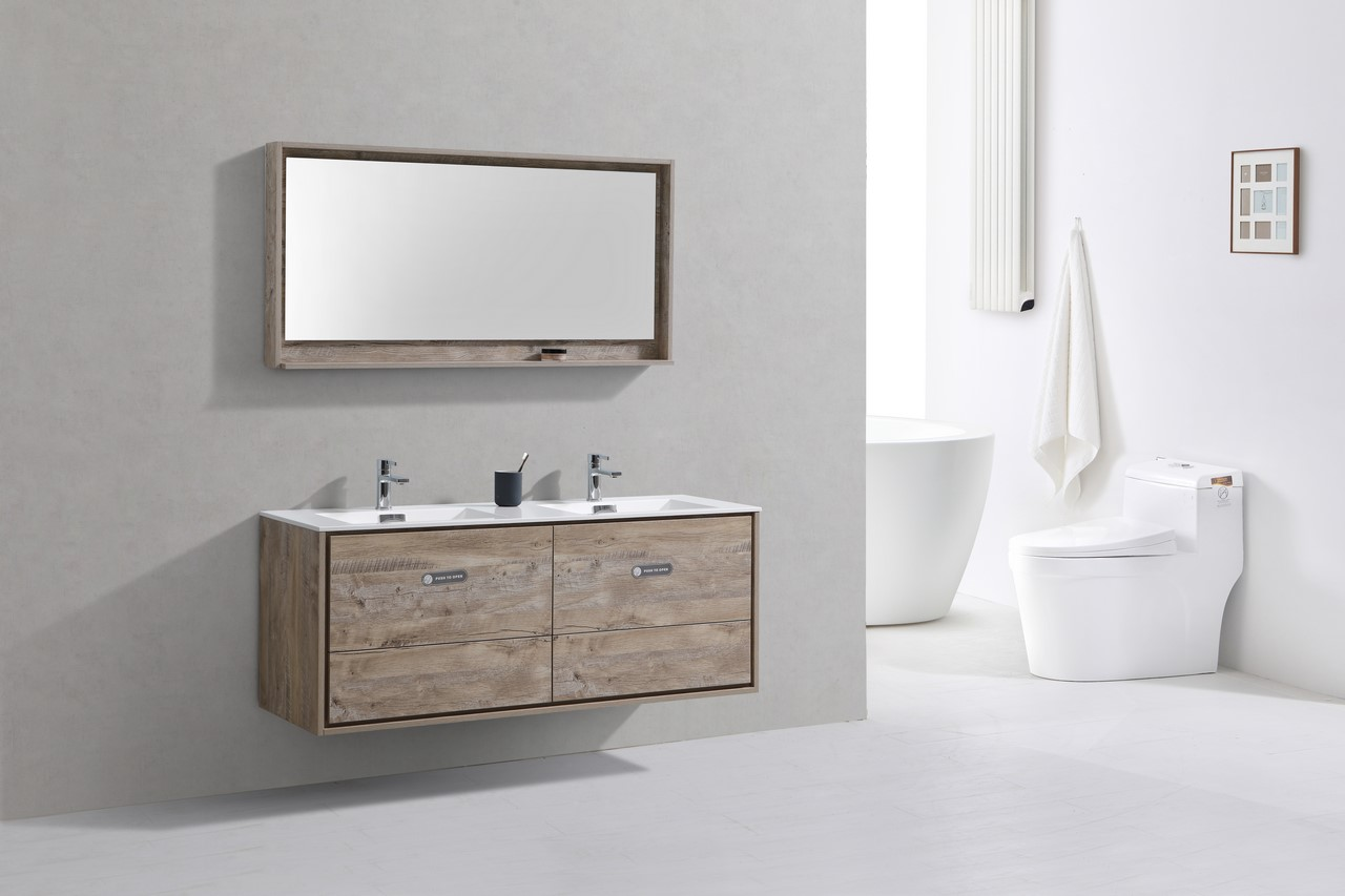 Wall Mount Double Vanity De Lusso 60