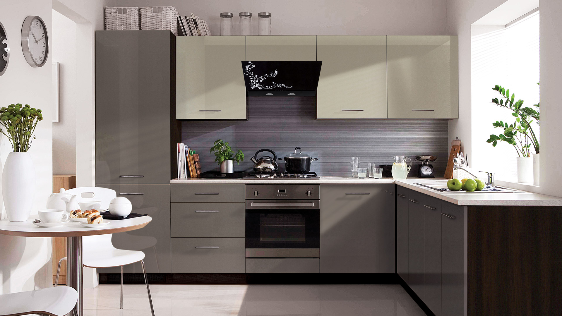 Capital Coast Kitchens Wnętrza Kuchnie Black Red White