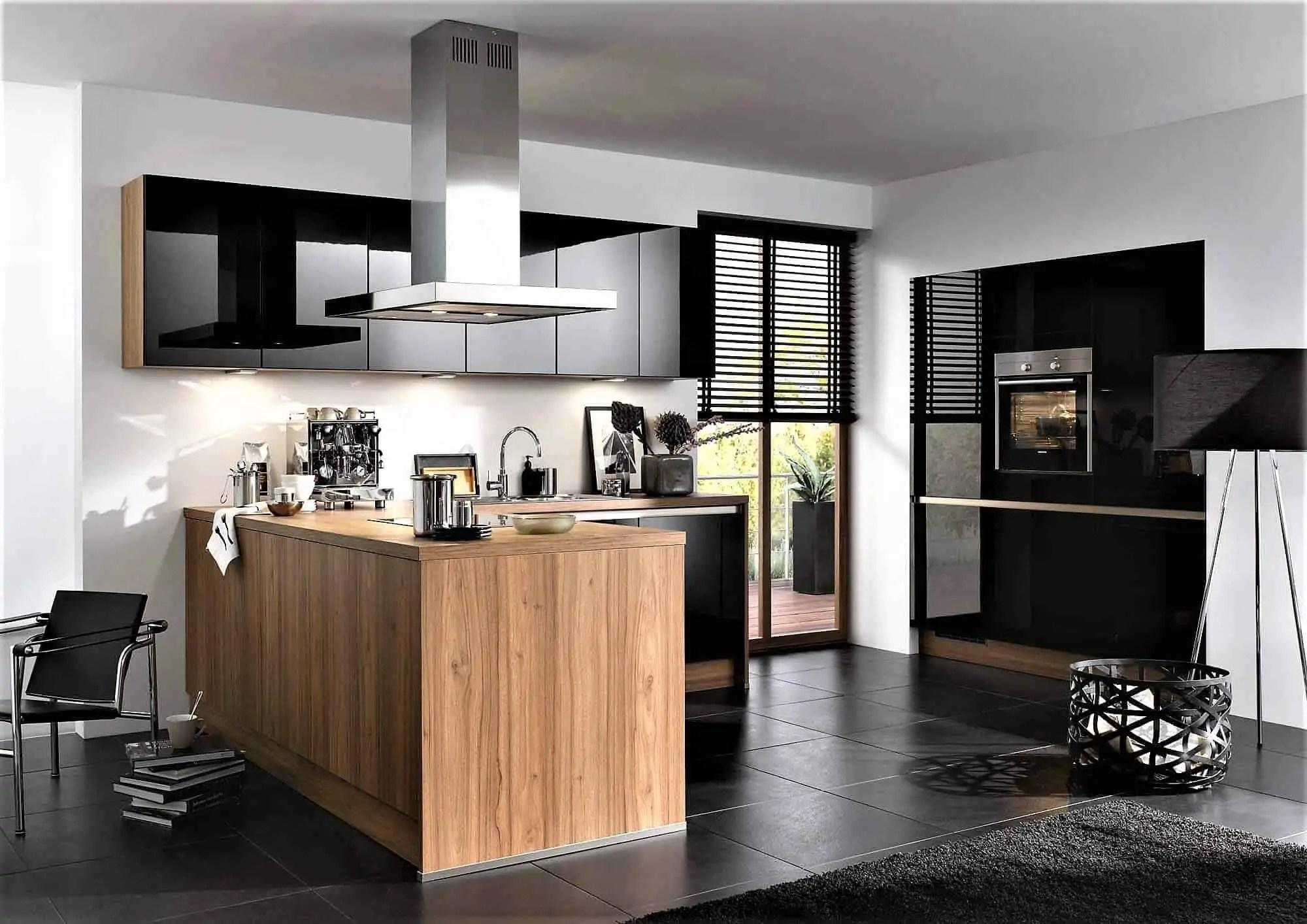Apothekerschrank Küche Schwarz Hochglanz | Kaufexpert Küchenzeile ...