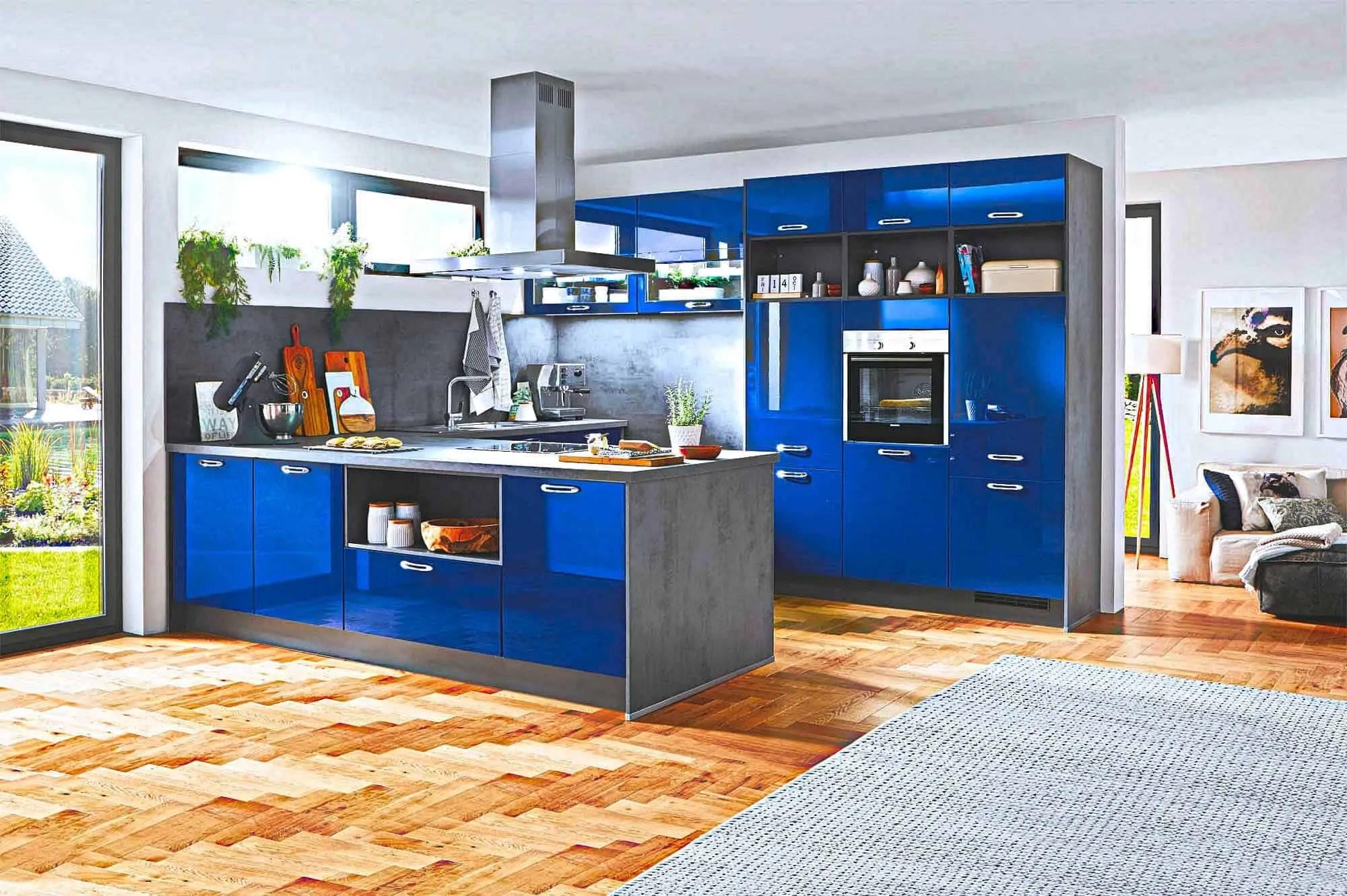 Blaue Küche Günstig Kaufen Kompetente Küchenplanung Küchenbörse