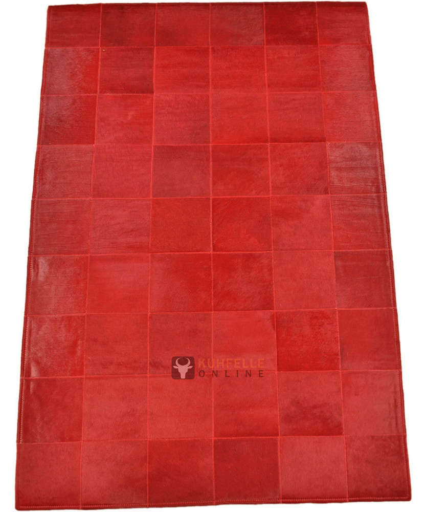 Online Teppich Exklusiver Kuhfell Teppich Rot 180 X 120 Cm Kuhfelle Online