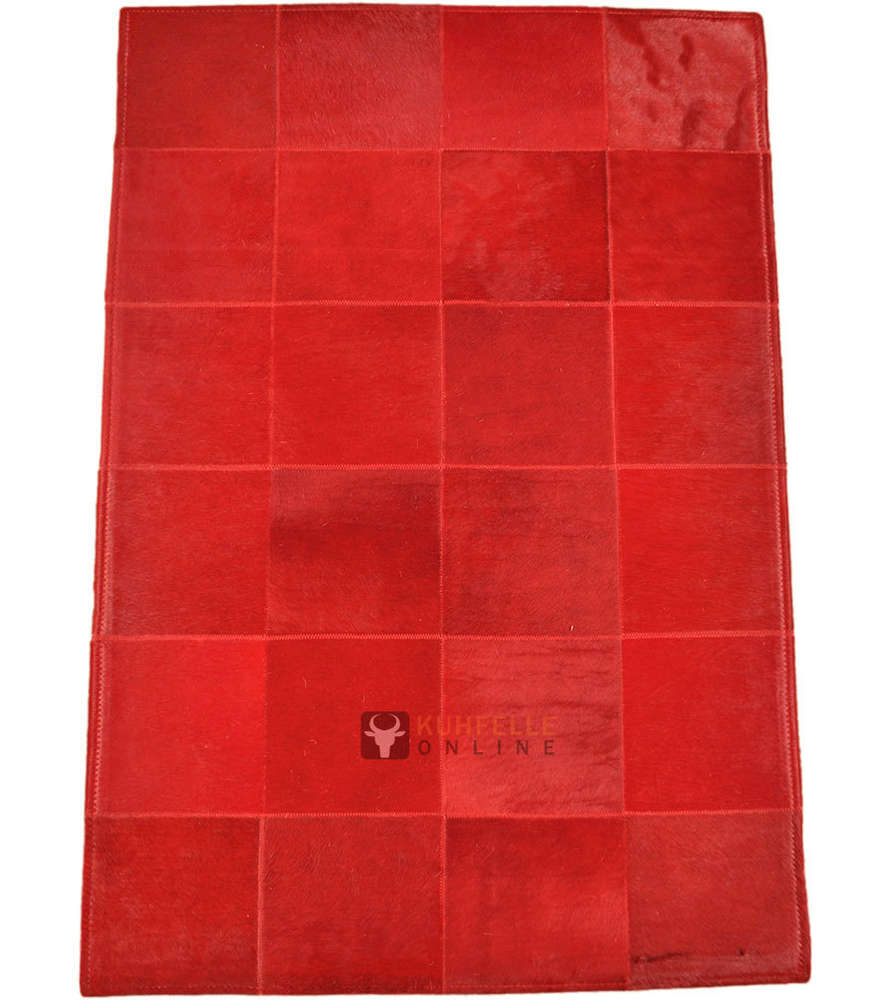Teppich 80 X 80 Exklusiver Kuhfell Teppich Rot 80 X 120 Cm Bei Kuhfelle Online