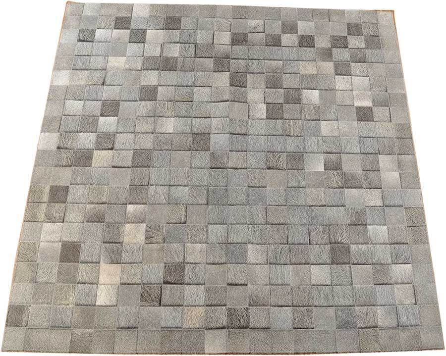 Kuhfell Teppich Silber Kuhfell Teppich Grau Natur 200 X 200 Cm | Kuhfelle Online
