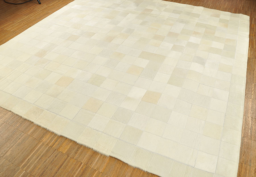 Kuhfell Teppich Creme Weiss 200 X 200 Cm Kuhfelle Online - Kuhfell Teppich Weiß