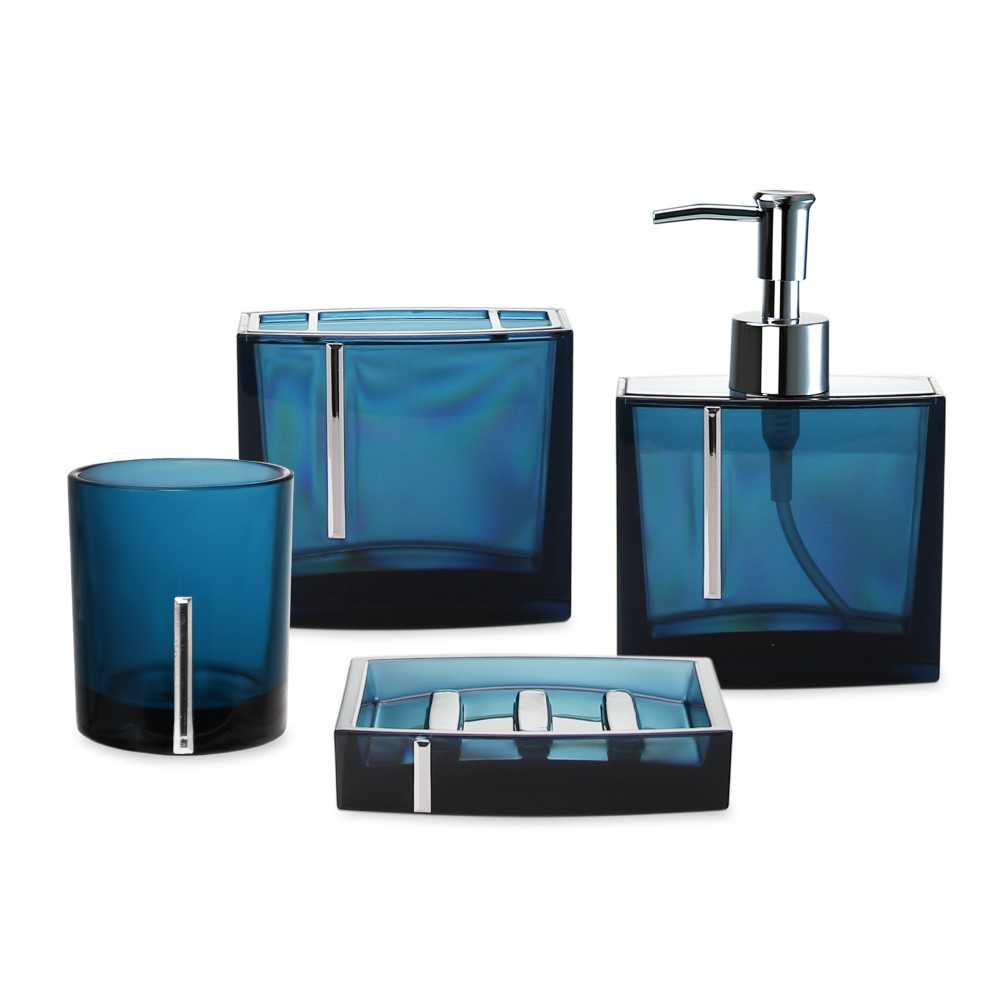 Bad Set Blau Deco 4 Teiliges Bad Set Blau